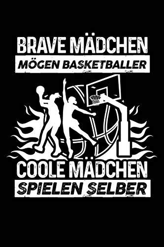 Coole Mädchen spielen Basketball: Notizbuch / Notizheft für Basketballerin Basketballspielerin Basketball-Fan A5 (6x9in) liniert mit Linien