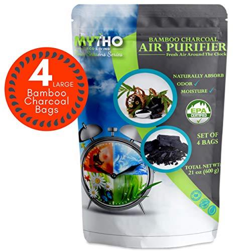 MYTHO Nature Fresh Air Purifier Bags, Bamboo Charcoal Air Purifying Bags, Activated Charcoal Air Purifying Bag Odor Eliminators For Home, Activated Charcoal Odor Absorber, Odor Eliminator, Closet Deodorizer