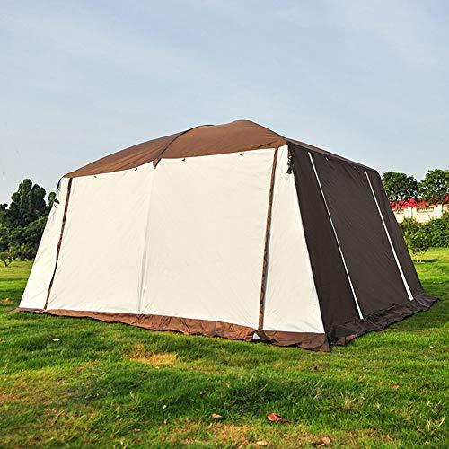 ZWYY Spacious,Anti-UVZelt, 8-15 Personen Großcamping-Zelt wasserdicht Familienzelte für die Doppel-Lagen im Freien,A