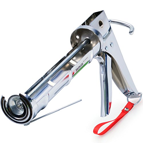 3 in 1 Caulking Gun (HEAVY DUTY CHROME PLATED) Fits Standard Size 10oz Caulk -...
