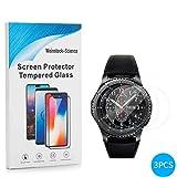 Weinstock-Science   3X bruchsicheres Schutzglas für Samsung Galaxy Gear S3  Schutzfolie aus 9H Echt Glas