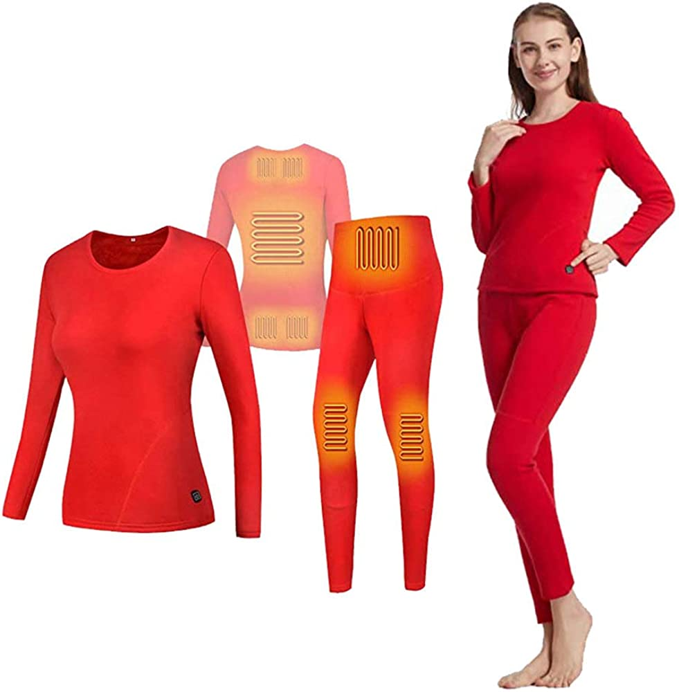 CHENTAO USB Electric Heated Challenge the lowest price Long Underwear Thermal Max 63% OFF Set