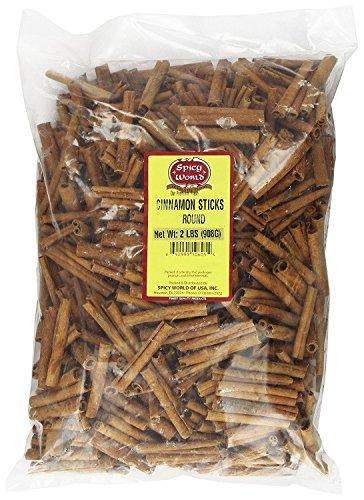 "Spicy World Cinnamon Sticks 2 Lb 100 To 150 Sticks 3"" Length Cassia Cinnamon"