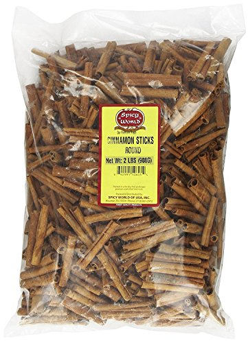 "Spicy World Cinnamon Sticks 2 Lb 100 To 150 Sticks 3"" Length Cassia Cinnamon"