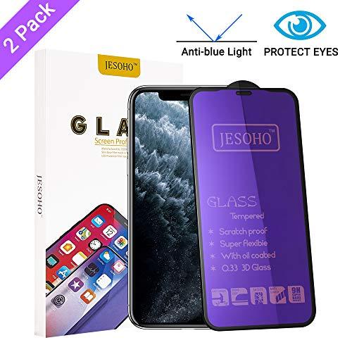 professionnel comparateur JESOCHO[Eye Protective Equipment]Verre trempé anti-lumière bleue pour iPhone iPhoneX / XS / 11 Pro (2… choix