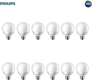 Philips LED Non-Dimmable G25 Frosted Light Bulb: 500-Lumen, 2700-Kelvin, 6.5-Watt (60-Watt Equivalent), E26 Base, Soft White, 12-Pack