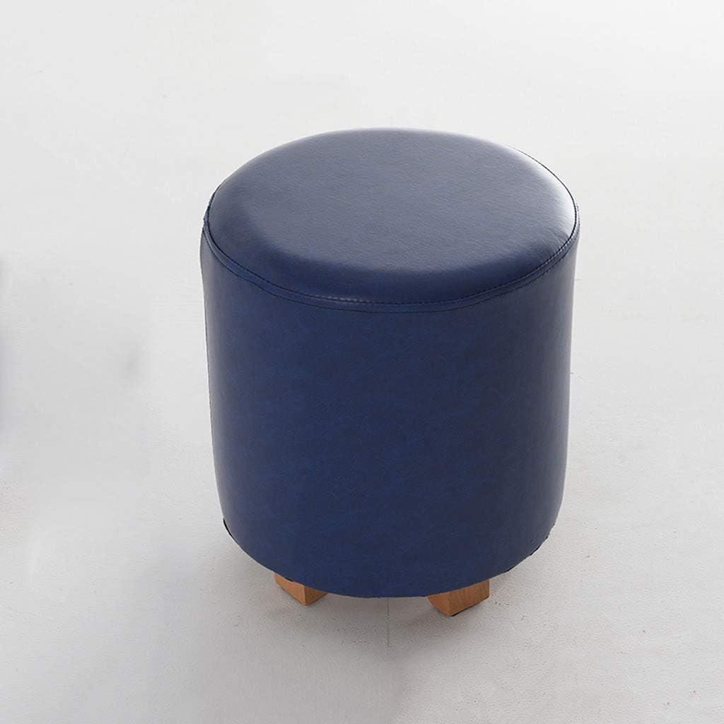 Shengluu Tabouret Pied Repose-Pieds Tabouret Bas Change Chaussures Banc LST-056 (Couleur : Brown) Dark Blue