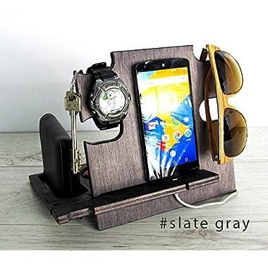 Docking Station Slate Gray, Gift for Men,, Gift for Him, Gift for Husband, Charging Station, Boyfriend Gift, Husband Gift, Men Gift, iPhone Dock, Personalized Gift, Gift for Dad
