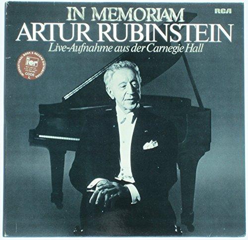 In Memoriam - Live Aufnahme aus der Carnegie Hall / RL 42024