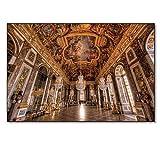 Sunglade Vintage Leinwand Wandkunst Frankreich Versailles