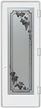 SANS Soucie - Pantry Door - Vineyard Grapes Cascade (Element) - 1D Negative Frosted - Grapes & Ivy / Primed