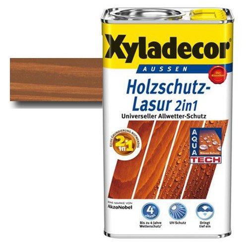 Xyladecor® Holzschutz-Lasur 2 in 1 Kastanie 5 l - auch für druckimprägnierte Holzbauteile