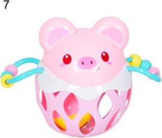 Anniston Kids Toys, Cute Cartoon Animal Baby Hollow Out Rattle Ball Toy Educational Child Hand Bell Baby Toys Perfect Fun ...