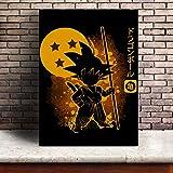 oioiu Película única Creativa Naruto Dragon Ball Leyenda cómica Colorido superhéroe Goku Vegeta Samurai Anime Poster Body Art Lienzo Regalo