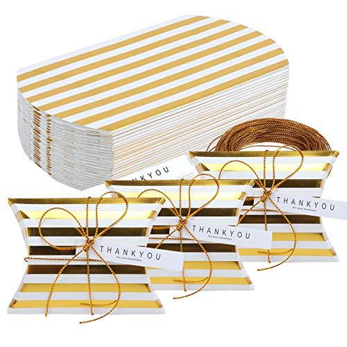 TsunNee - Scatole di carta per caramelle con biglietto di ringraziamento, scatole regalo natalizie,...