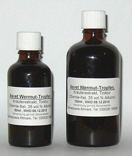 Asvet 50ml Wermut Tropfen, Bitterkräuter Extrakt, Bitterstoff Konzentrat (GP = EUR 35,80/100ml)