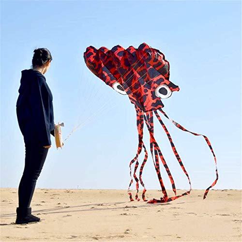 XiaoOu Schnur Drachen für große Octopus Drachen mit Griff Schnur Kinder Eagle Kite Surfen Niedlichen Tier Octopus Drachen Erwachsene Spaß Fliegen Drachen, Lila