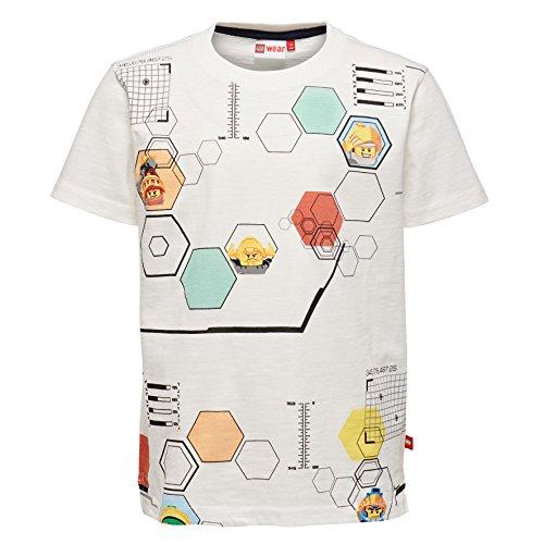Lego Wear Jungen Lego Nexo Knights Thomas 414 T-Shirt, Weiß (Off White 102), 116
