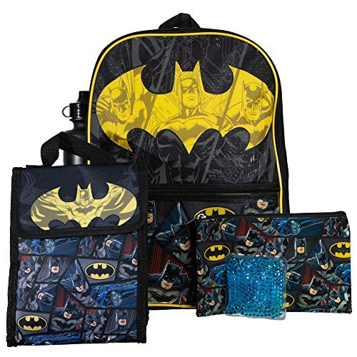 Youth Batman 5pc Backpack and Lunch Set