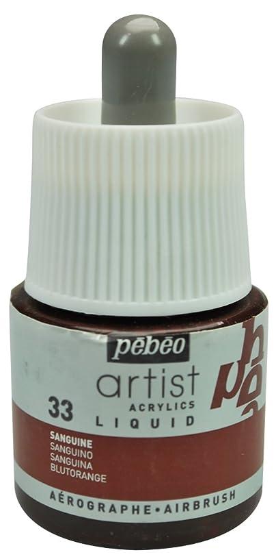 Pebeo Artist Acrylics, Liquid Acrylic Ink, 45 ml Bottle with Dropper - Sanguine