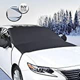 Whew Car Windshield Snow Cover, 81''x60'' Waterproof Frost Guard Winter Windshield Snow Ice Cover with Side Mirror Covers, Windproof Summer Windshield Sun Shade Fits Most Cars, SUVs, Minivans