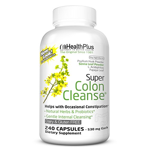 Health Plus Inc Super Colon Cleanse 530 mg 240 Capsules