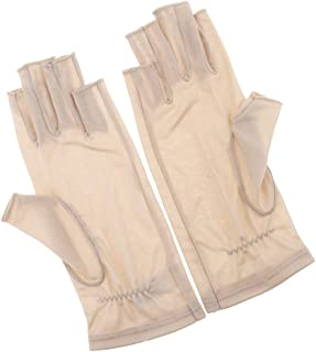 Lovoski Ladies Stretchy Silk Thin Fingerless Gloves For Running Motorcycle