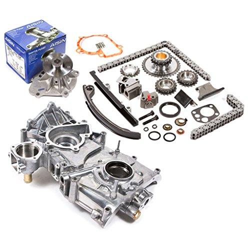 Fits 91-98 Nissan 2.4 DOHC 16V KA24DE Timing Chain Kit Oil Pump AISIN Water Pump