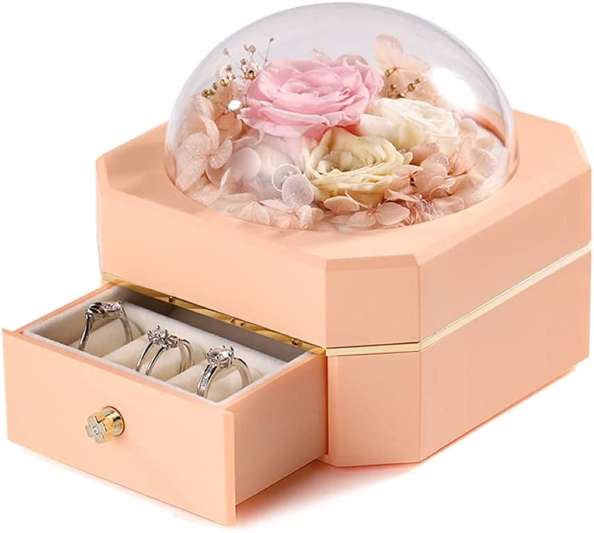 WLP Jewelry Organizer Box Gift Ranking integrated 1st place With Never Nippon regular agency Flowers Preserved