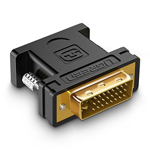 UGREEN Adattatore DVI a VGA, Full HD 1080P Convertitore DVI 24+5 Maschio a VGA Femmina, Connettore DVI VGA Adapter Cavo DVI a VGA Compatibile con PC, Scheda Grafica, Monitor, Proiettore, HDTV, ecc.