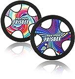 com-four 2X Freestyle Frisbee para niños y Adultos - Disco de Lanzamiento Ligero - Disco de frisbeing Impermeable - Disco de Vuelo Flexible [la selección varía]