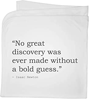Quote by Isaac Newton Cotton Baby Blanket / Shawl (BY00016807)