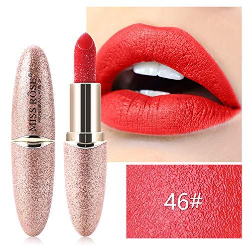 Anself Lippenstift Perlglanz wasserfest Lippenstift Lip Gloss Lip Makeup