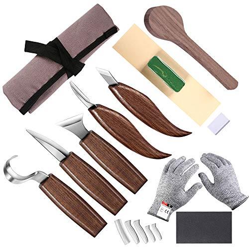 Herramienta para tallar madera, cuchillo para tallar ganchos, cuchillo de madera, cuchillo para tallar, cuchillo oblicuo, cuchillo para cuchara de cortar, cuenco, taza o trabajos de madera en general