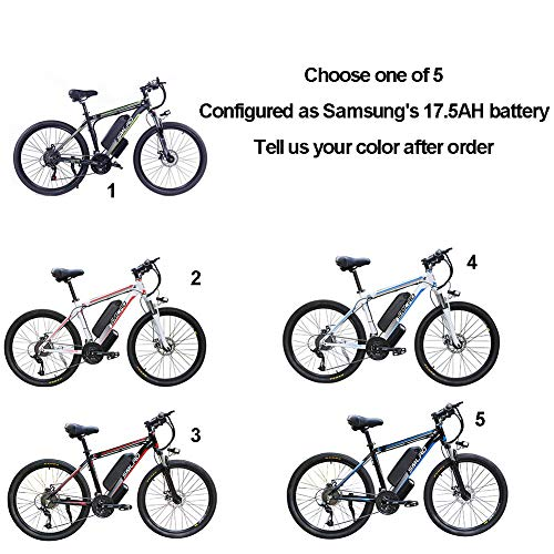 Hyuhome Electric Bicycles for Adults, 360W Aluminum Alloy Ebike Bicycle Removable 48V/17.5Ah Lithium-Ion Battery Mountain Bike/Commute Ebike (Samsung's 17.5AH)