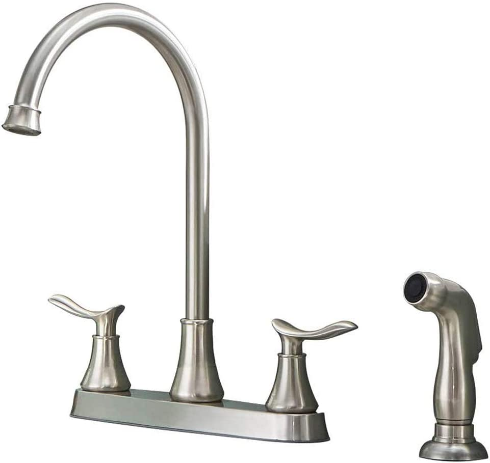 KINGO HOME Two Handle Finally resale start Kitchen Sink Sprayer Bru Max 59% OFF with Side Faucet