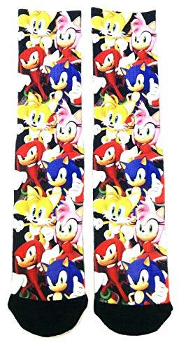 Sega Sonic the Hedgehog Group Photo Sublimated Premium Men's Crew Socks