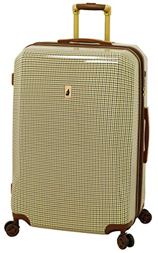 London Fog Cambridge 28' Expandable Hardside Spinner, Olive Plaid