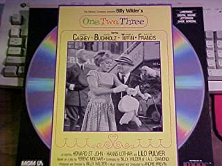 Laserdisc of Billy Wilder's ONE, TWO, THREE with James Cagney, Horst Buchholz, Pamela Tiffin, Arlene Francis, and Howard St. John. Letter Box Edition.
