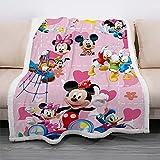 Cartoon Kids Girls Throw Anime Mickey Minnie Blanket Mouse Soft Warm Plush Women Fuzzy Bed Couch Blanket(40'x50')