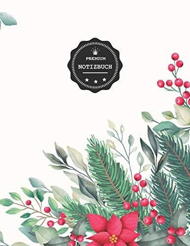 Premium Notizbuch: Adventskranz Deko Design Motiv, Dotgrid Journal| Punktraster A4 150 Seiten, Punktkariert (mit Register, Seiten numeriert, Vintage Softcover - Dot grid Heft, Schulheft, Matheheft