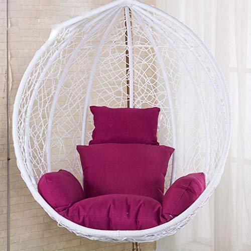 Yuany Basket Swing stoel kussen, rotan rieten ei hangstoel pads met comfortabele kussen voor binnen, buiten (kleur: blauw)