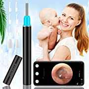 Topicy Ear Wax Removal Tool,Ear Cleaner with Camera,1080P HD Ear Wax Remover Endoscope with Led Light,Wireless Ear Scope Otoscope Kit 3.9mm Ear Pick