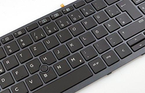 NExpert deutsche QWERTZ Tastatur für Hewlett Packard HP ZBook 15 G3 Serie DE beleuchtet mit Backlight und Maussticker Neu!