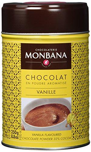 Monbana Schokoladenpulver Vanille 250g Dose (mind. 32% Kakao), 1er Pack (1 x 250 g)