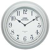 Kitchen Craft 25,5 cm Living Nostalgia Reloj de Pared para Interiores, French Gris