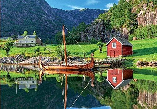 HNZYF 500/1000 Tabletten Jigsaw Puzzle Nordic Boot Lernspielzeug für Erwachsene Home Entertainment Holz intellektuelle Herausforderung