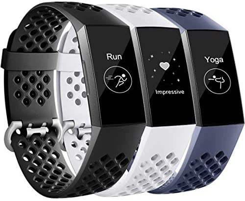 Maledan Bands Compatible with Fitbit Charge 3 and Charge 4 Breathable Sport Band Replacement product image