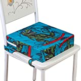 Toddler Booster Seat for Dining Table, Portable Increasing Cushion for Boys - Dinosaur Blue