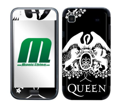 MusicSkins mobiele telefoon plakfolie/skin voor Samsung, Queen Crest White, Samsung Galaxy S International GT-I9000, zwart, wit
